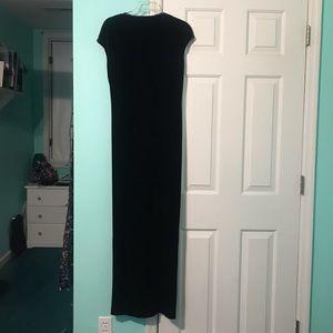 velvet black formal/prom dress